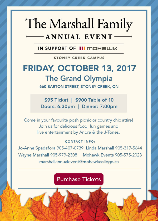 Marshall Family Annual Fundraiser 2017